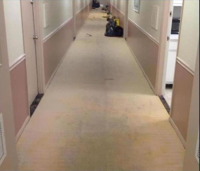Commercial Water Damage – Dover Hotel Before