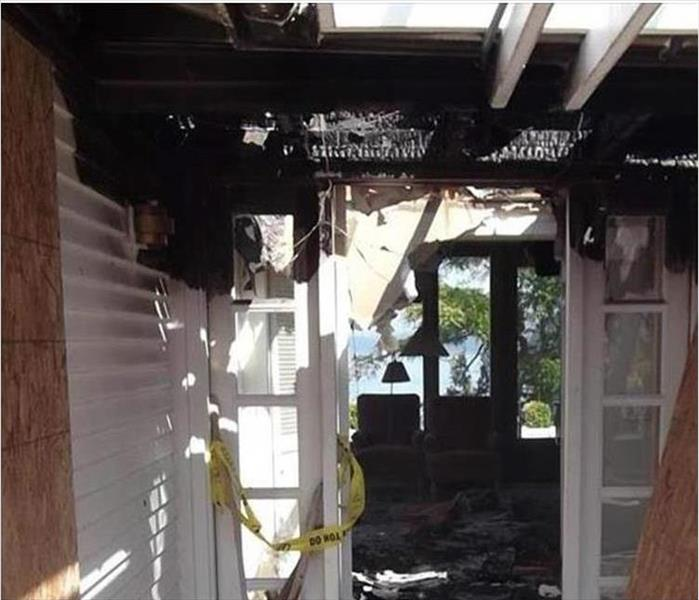 Fire Damaged Porch in Rochester